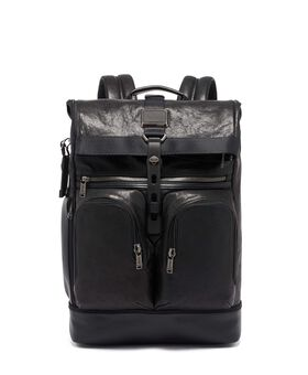 London Roll Top Backpack Leather Alpha Bravo