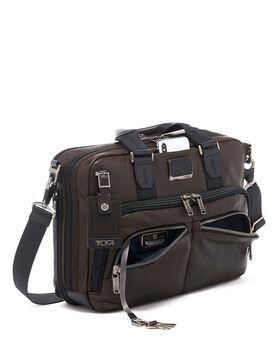 Albany Slim Commuter Brief Leather Alpha Bravo